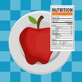 Apple with nutrition facts. Vector illustration design Royalty Free Stock Photos