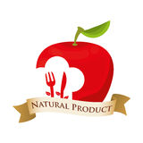 Apple nutrition food natural product. Illustration eps 10 Stock Photo