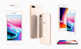 Apple ny iPhone 8 Fotografering för Bildbyråer