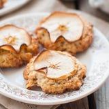 Apple Oat Cookies Stock Photos