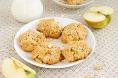 Apple oatmeal cookies Royalty Free Stock Photo