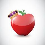 Apple och en kronaillustrationdesign Royaltyfri Bild
