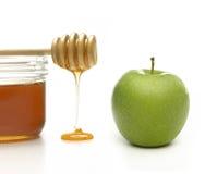Apple och honung Fotografering för Bildbyråer