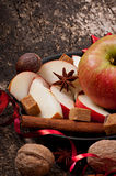Apple och kryddor Arkivbilder