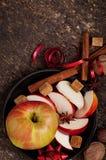 Apple och kryddor Arkivfoto