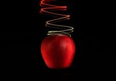 Apple och ljus 2 fotografering för bildbyråer