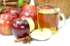 Apple och lock av fruktsaft Royaltyfria Bilder