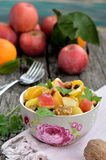 Apple och orange sallad Royaltyfria Bilder