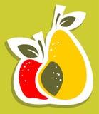 Apple och pear Royaltyfri Foto