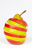 Apple oder Birne Lizenzfreies Stockbild