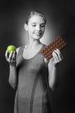 Apple oder Schokolade Lizenzfreies Stockbild