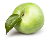 Apple one leaf Royalty Free Stock Photography
