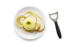 Apple op een plaat royalty-vrije stock foto