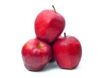Apple op een witte achtergrond Royalty-vrije Stock Fotografie