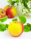 Apple op het wit royalty-vrije stock foto's