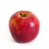 Apple op witte achtergrond wordt geïsoleerd die Stock Afbeeldingen