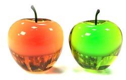 Apple op witte groene achtergrond Royalty-vrije Stock Foto