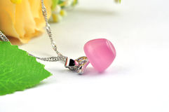 Apple opal necklace Royalty Free Stock Photos