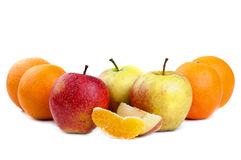 Apple and orange Stock Image