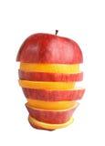 Apple and orange Stock Photo
