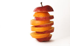 Apple and orange Stock Image