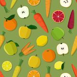 Apple, orange, citron et carotte Image stock