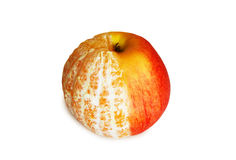 Apple and orange combination. Isolated on white Stock Photography