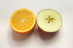 Apple&orange Stock Photos