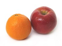 Apple orange et rouge Photographie stock libre de droits