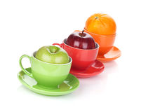 Apple and orange fruit tea Stock Photography