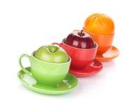 Apple and orange fruit tea Stock Photography