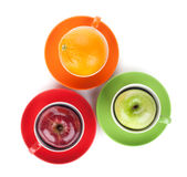 Apple and orange fruit tea Royalty Free Stock Photo