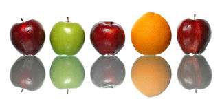 Apple and Orange Stock Images