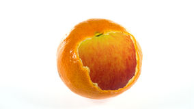 Apple orange isolated Stock Photos