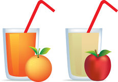 Apple and orange juice Stock Photography