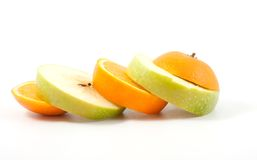 Apple and orange mix Stock Photography