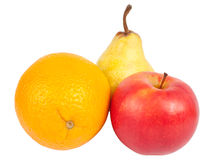 Apple orange pear Royalty Free Stock Photos