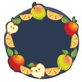 Apple orange ram Royaltyfri Bild