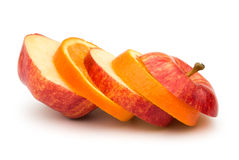 Apple and orange slices Royalty Free Stock Photography