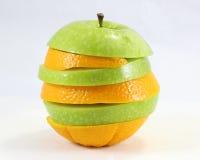 Apple orange stack art Royalty Free Stock Photo