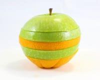Apple orange stack art Stock Photos