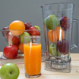 Apple and Orange. On the table Stock Image
