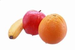 Apple, Orange und Banane Lizenzfreies Stockfoto