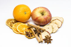 Apple, orange und spice Stock Image