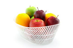 Apple and Orange. On the white background Stock Photography