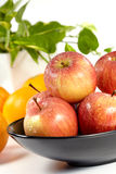 Apple and oranges stock photography