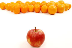 Apple and Oranges Stock Image