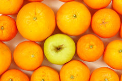 Apple and Oranges Royalty Free Stock Photo