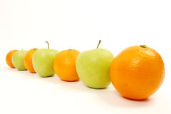 Apple and Oranges Royalty Free Stock Photos
