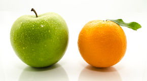 Apple and Oranges Stock Photo